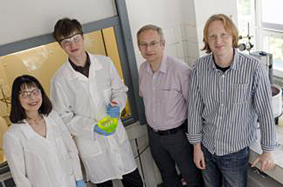 Prof Vytautas Getautis and his team at KTU.