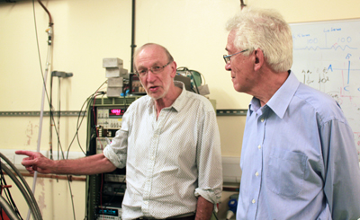 Terahertz innovators: Warwick Professors Evan Parker (left) and Terry Whall.