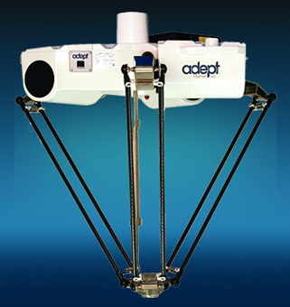 Adept's latest industrial robot - the Hornet 565.