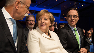German Chancellor Dr Angela Merkel opened the Frankfurt Motorshow