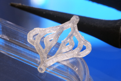 3D-printed artificial branched blood vessel.