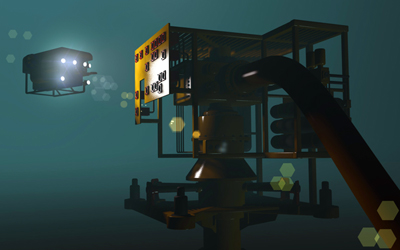 ROV's like this are used for diverse underwater inspections.