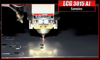 Amada and Lumentum's LCG3015-AJ flatbed laser cutting machine.