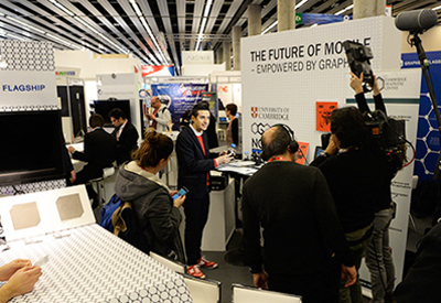 The Graphene Flagship stand at MWC this week.