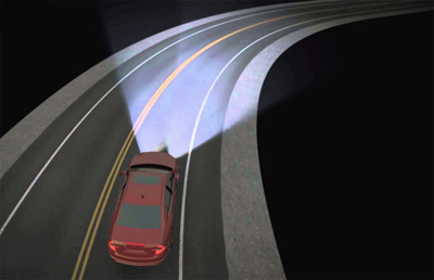 Night rider: Smarter headlamps make for safer driving.