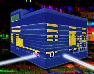 IBM's 90nm Silicon Integrated Nanophotonics technology.