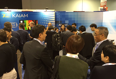 Busy, busy: Kaiam's OFC booth, this week.