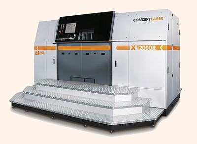 An X line 2000R from Concept Laser featuring multilaser technology.