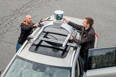 Volvo with Velodyne