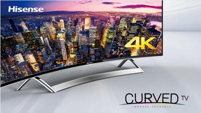 QD-enhanced: Hisense's curved 55-inch screen