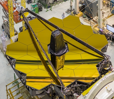 JWST's gold-coated mirrors (click to enlarge)