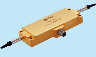 Fiber-Q™, a fiber-coupled acousto-optic modulator from G&H.