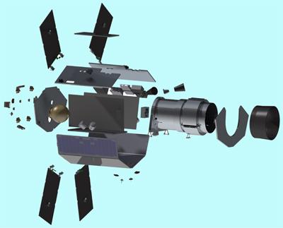 Exploded view of Twinkle SSTL-300 platform.