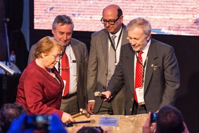 'First stone' ceremony in Chile