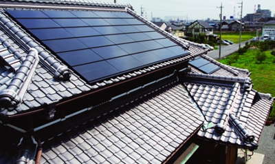 Solar Frontier deployment on a Japanese house.