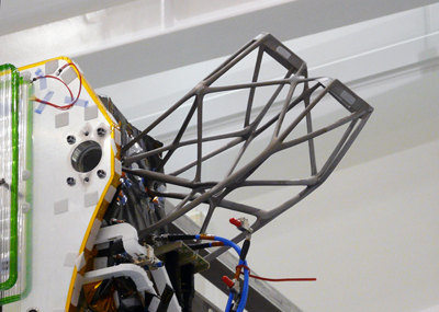 Europe's largest additively-manufactured part is an antenna support for satellites.