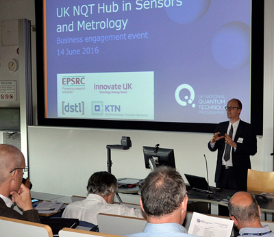 Prof Kai Bongs, of the UK Quantum Tech Hub, speaks to last month's conference.
