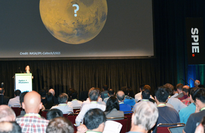 Prof. Melissa Rice's talk on the next Mars Rover developments drew a large crowd.