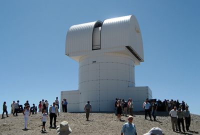 Popular destination: the 2.3m Aristarchos telescope at the Helmos Observatory, Greece.
