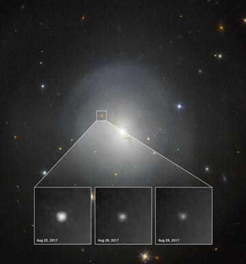 Kilonova dims in a week: Hubble imagery