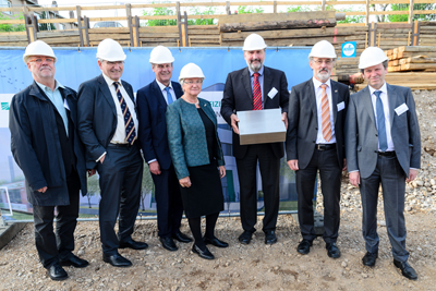 The cornerstone is safely laid for Center for High-Efficiency Solar Cells.