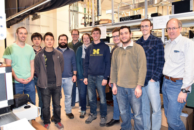 U-M's Cundiff Lab team, with Steven Cundiff on the right.