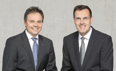 Partners: Osram's Hans-Joachim Schwabe and Continental's Andreas Wolf.