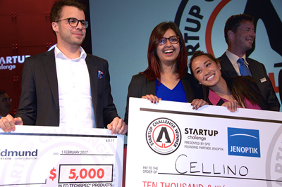 2017 winners: Cellino's Jakub Florkiewicz, Nabiha Saklayen and Marinna Madrid.