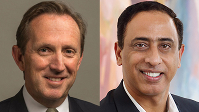 Deal: Corning's Clark Kinlin and 3M's Ashish Khandpur.