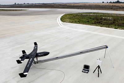 Ready for lift off: Prototype drone undergoing tests in Portugal.