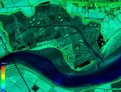 Lidar mapping technique will provide detailed land information to 1m sensitivity.