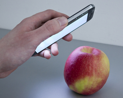 It will soon be possible to use smartphones to scan apples for pesticide.