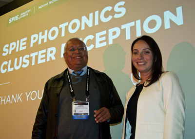 Mexican cluster presenters: Dr Oracio Barbosa Garcia and Azul Ogazón Gómez.
