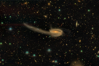 The 'Tadpole' galaxy: part of Subaru's first major data release