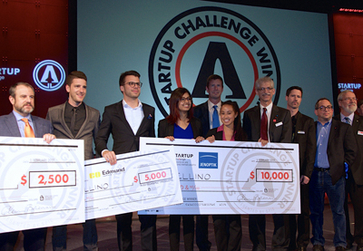 SPIE Startup Challenge 2017 winners and judges.