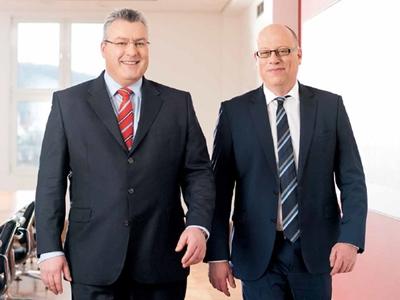 Boys keep swinging: Michael Mertin and Hans-Dieter Schumacher