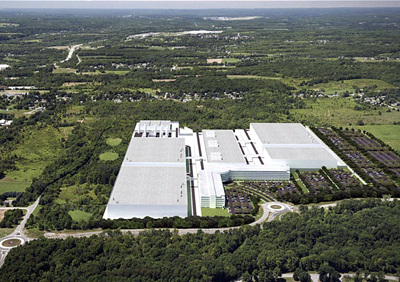Artist's rendering of ams' pending semiconductor wafer fab at Marcy, Utica, New York.