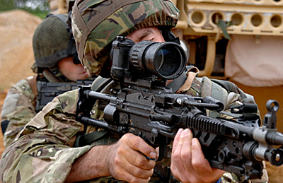 Sure shot: Qioptiq's Kite weapon-mounted night sight.