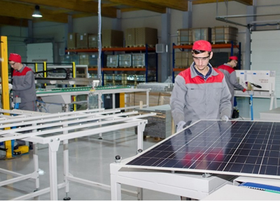 Wattrom's solar cell production facility in Ovidio, Romania.