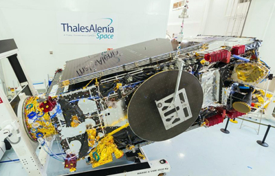 3D-printed parts: Brazil's SGDC telecommunications satellite.