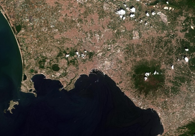 The Bay of Naples: as seen by Sentinel-2B