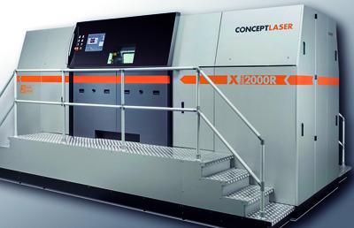 Concept Laser's XLine 2000R selective laser melting system.
