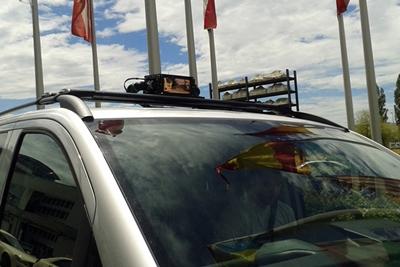 Lidar on board: Luminar technology on a Mercedes Metris