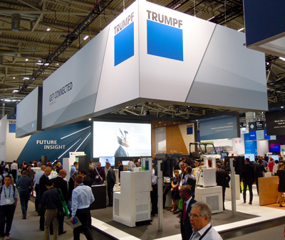 Top Trumpfs: The biggest booth at LASER 2017.