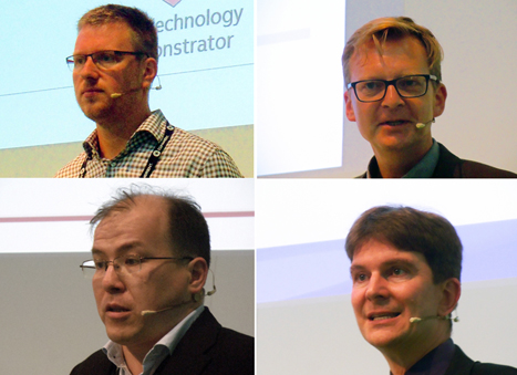 Teahertz presenters: van Mechelen, Nagel, Tsydynzapov, and Deninger.