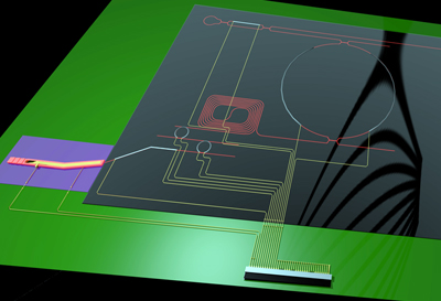 University of Twente's narrowband diode laser chip.