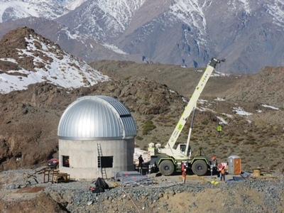 LSST's auxiliary telescope 'ash dome'