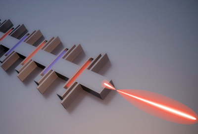 Model of MIT's unidirectional photonic wire laser.