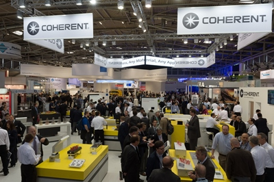 Coherent's stand in Munich