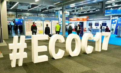 The giant ECOC hashtag was a popular spot for
